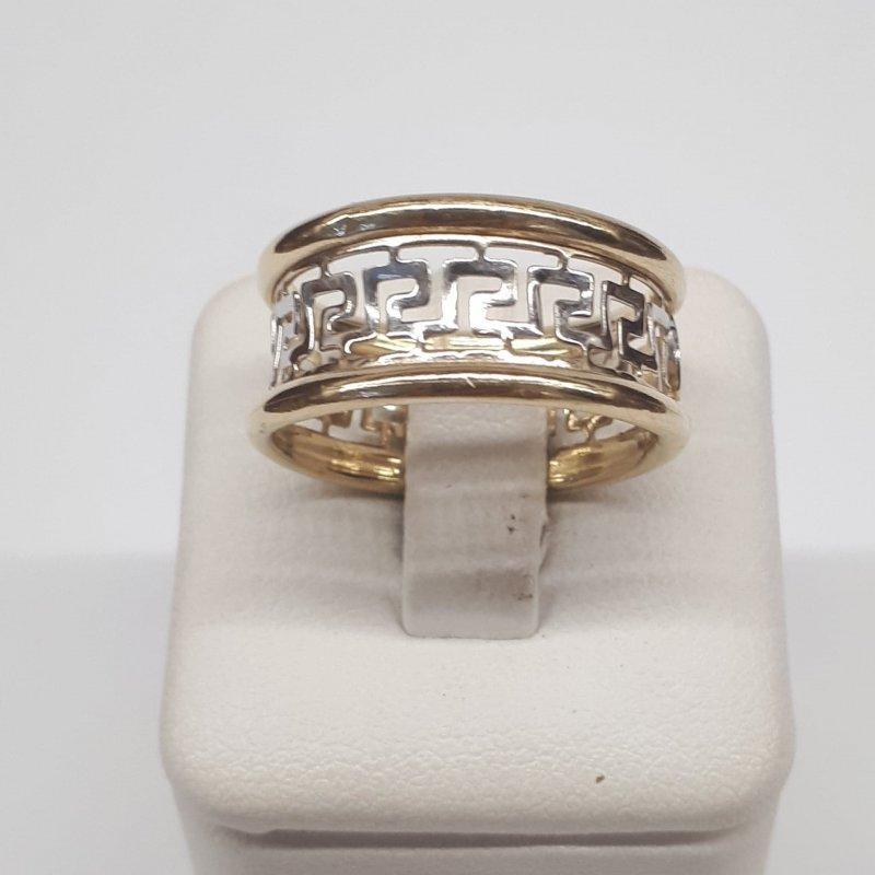 Złoty pierścionek GRECKI