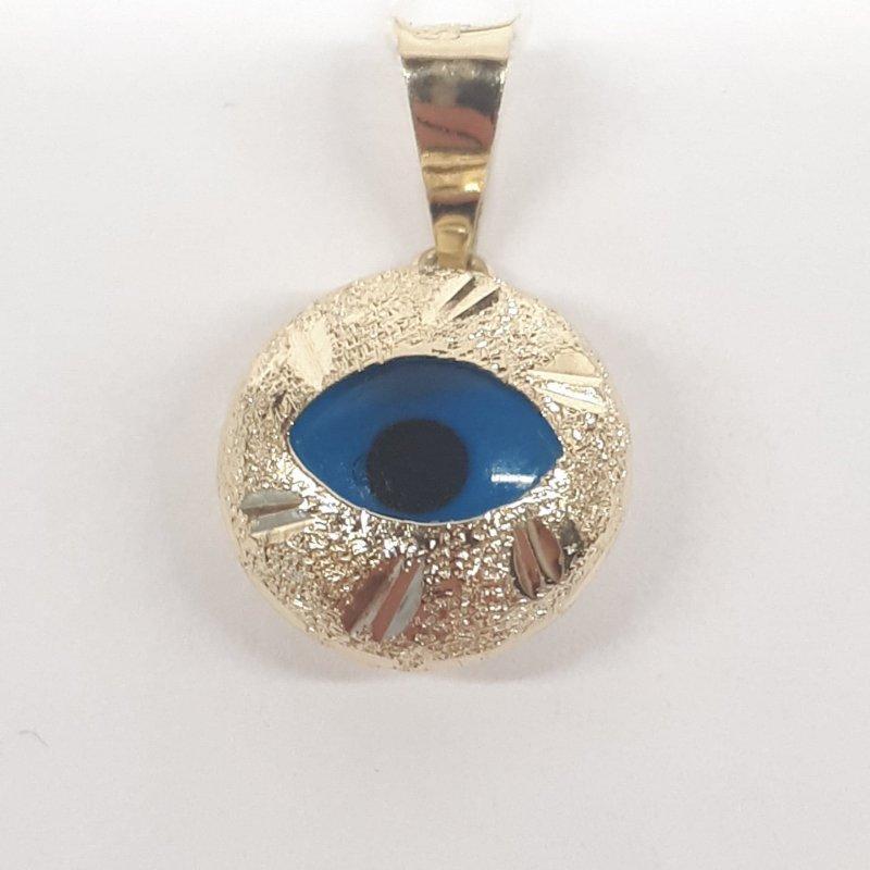 Złota zawieszka oko