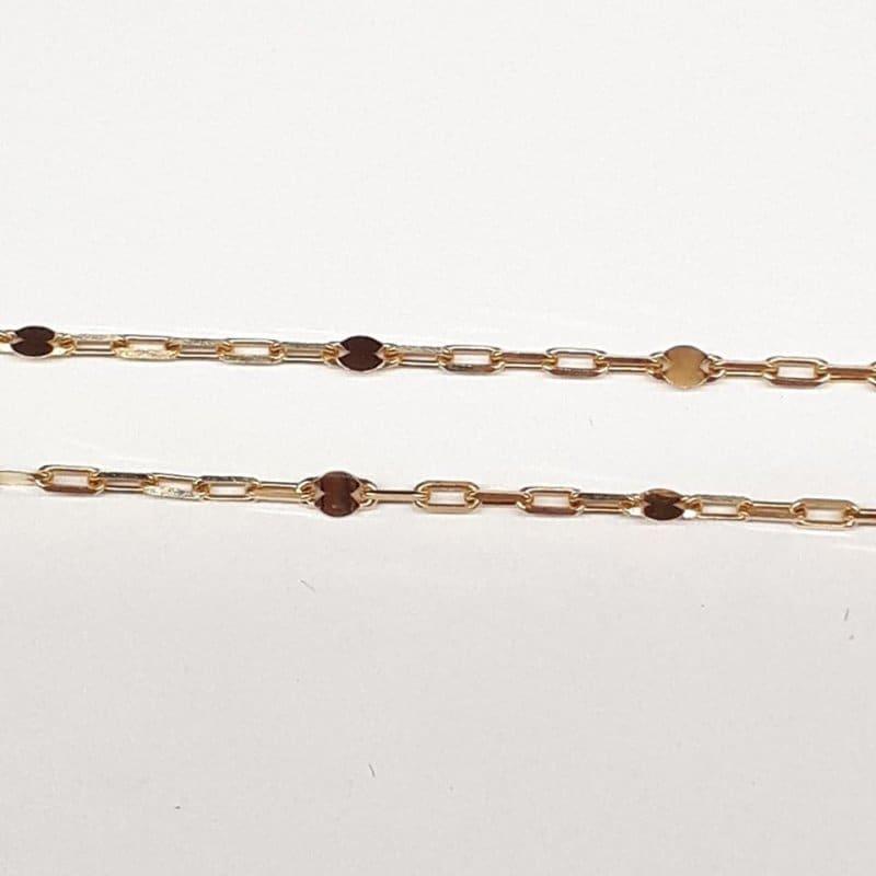 Złoty łańcuszek splot ANKIER ozdobny