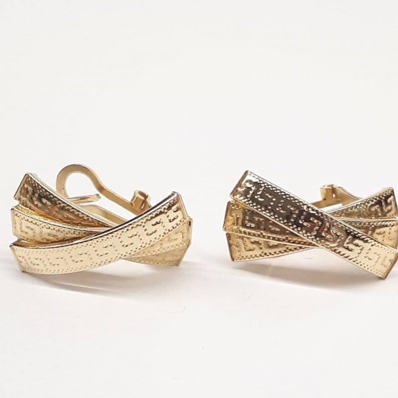 Złote kolczyki styl GRECKI