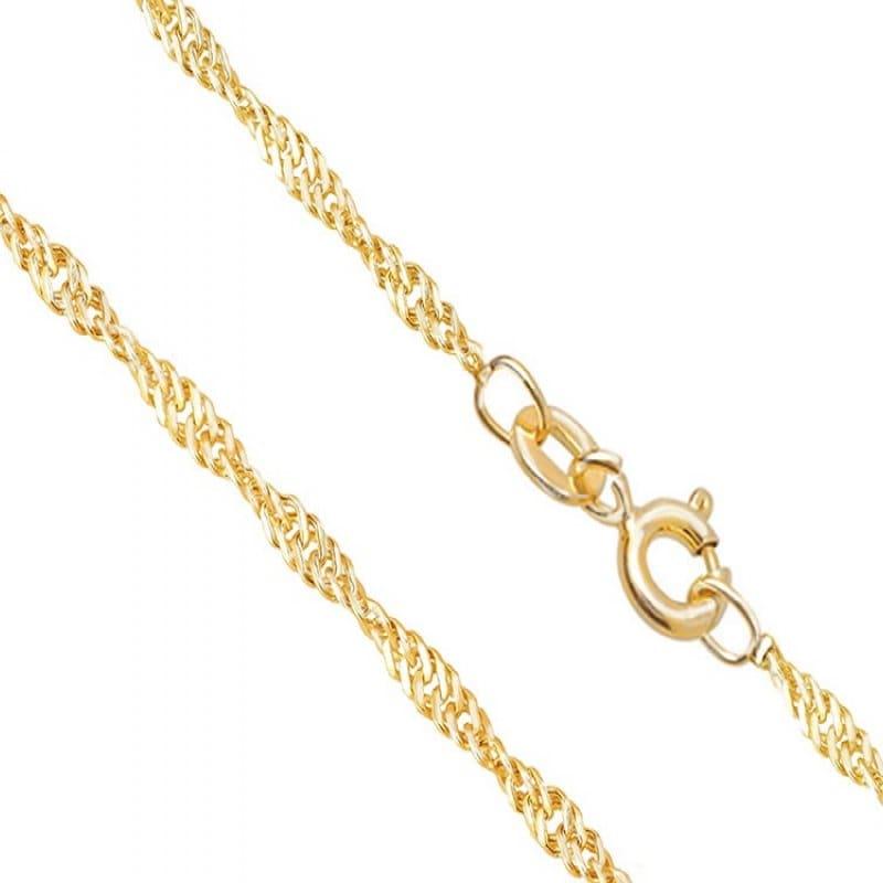 Złoty łańcuszek splot Singapur